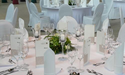 Johanniskirche eingedeckter Tisch