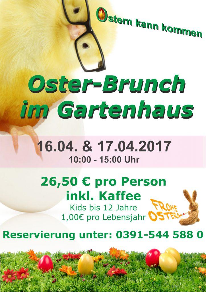 Oster Brunch Magdeburg Gartenhaus im Stadtpark